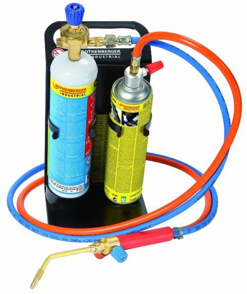 Rothenberger Industrial - Roxy Kit Plus - Autogenschweiß- und Hartlötgerät - inkl. Gas- und Sauerstoffbehälter