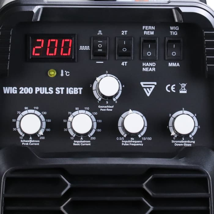STAHLWERK DC WIG 200 Puls ST, Profi WIG Schweißgerät